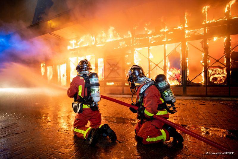 Incendie Marché Henri-Barbusse 18 août 2019