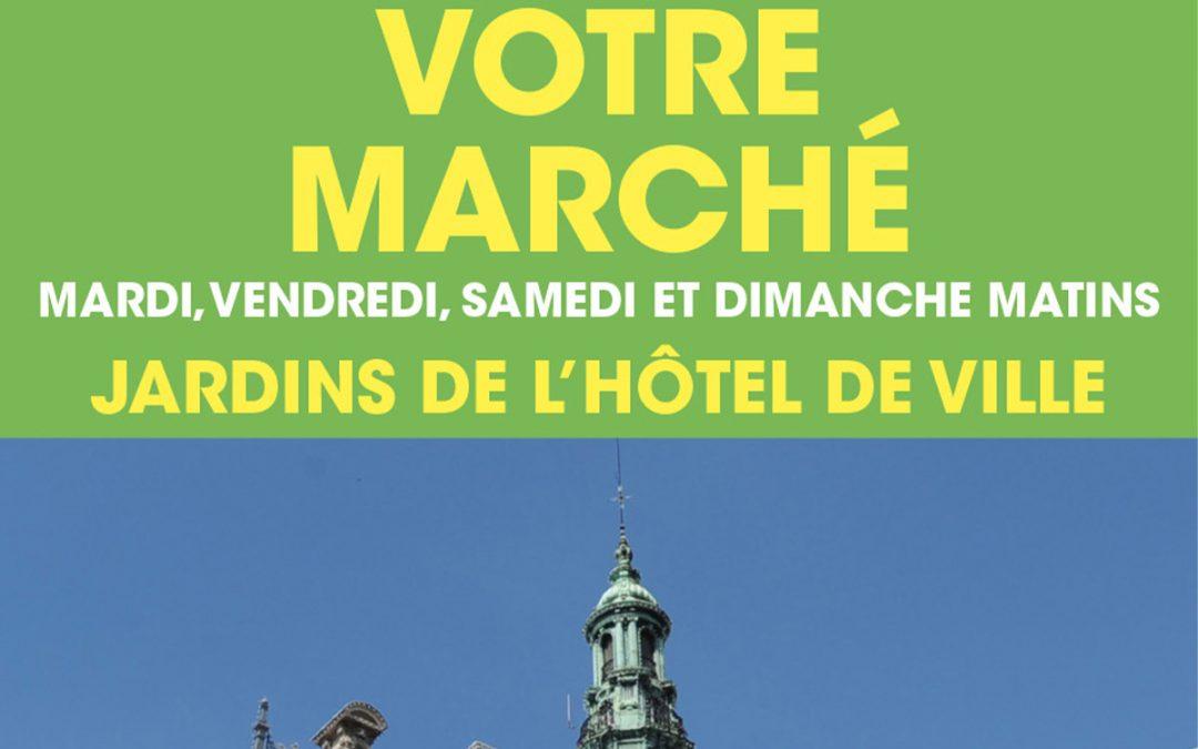 Le Marché Henri-Barbusse s'installe dans les Jardins de l'Hôtel de Ville