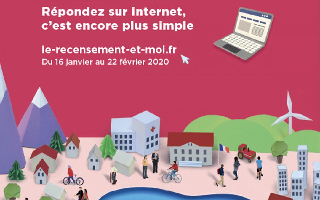 Du 16 janvier au 22 février 2020 – Recensement de la population