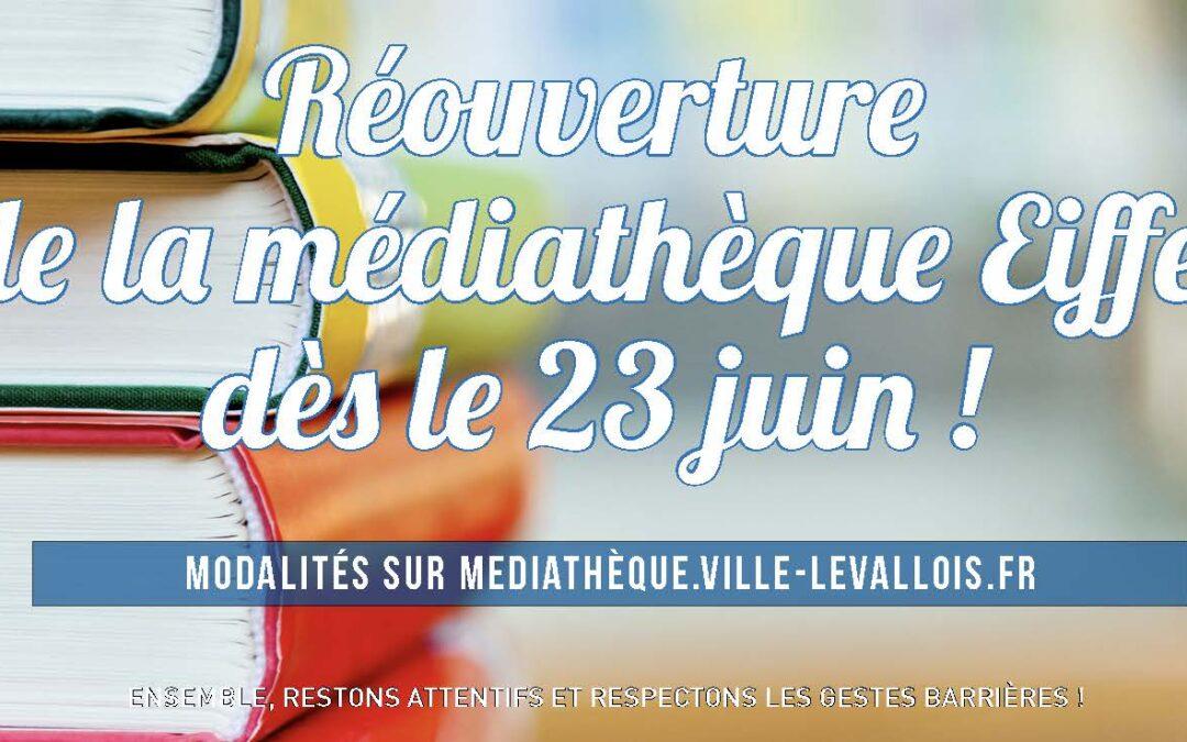 Réouverture de la Médiathèque Gustave-Eiffel