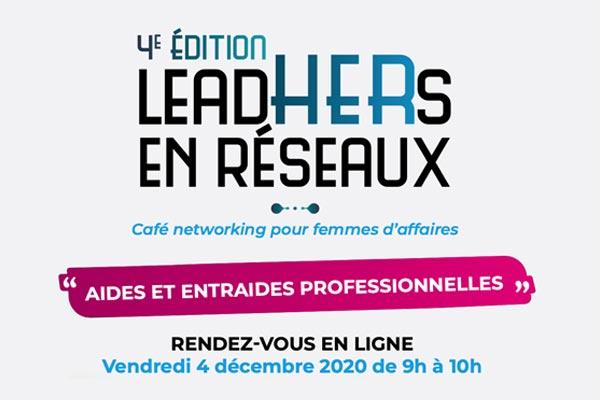 LeadHERs en réseaux, rendez-vous le 4 décembre !