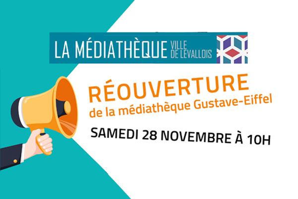 Réouverture de la médiathèque Gustave Eiffel