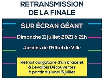 Euro 2021 : Finale dans les Jardins de l'Hôtel de Ville